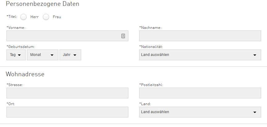 Swissquote Erfahrungen - Online Formular