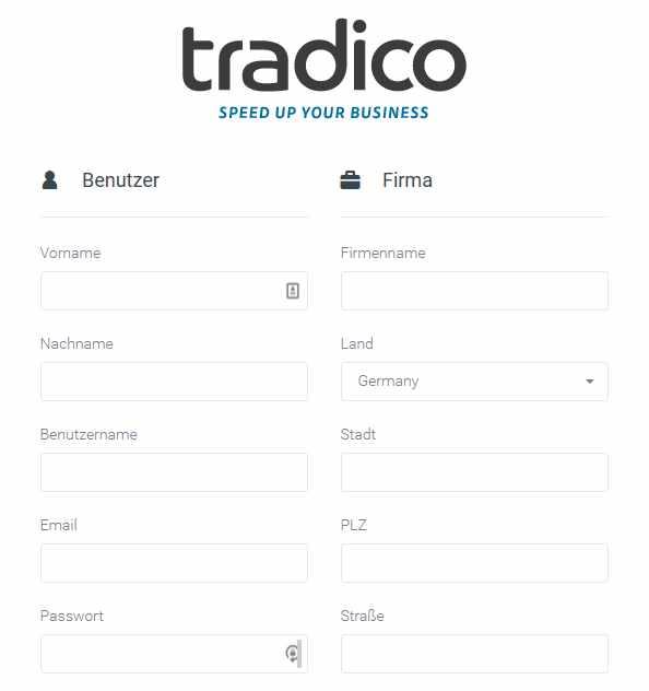 Tradico Erfahrungen - Registrierung