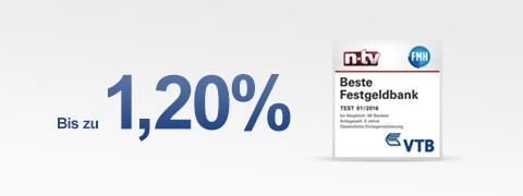 VTB Festgeld - Header