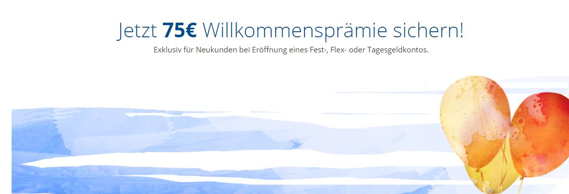 FirstSafe Euro Festgeld - Prämie