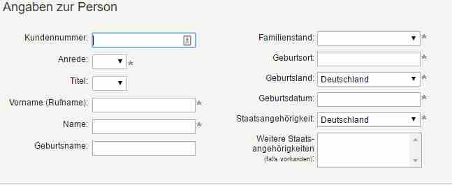 pbbdirekt Festgeld - Online Formular