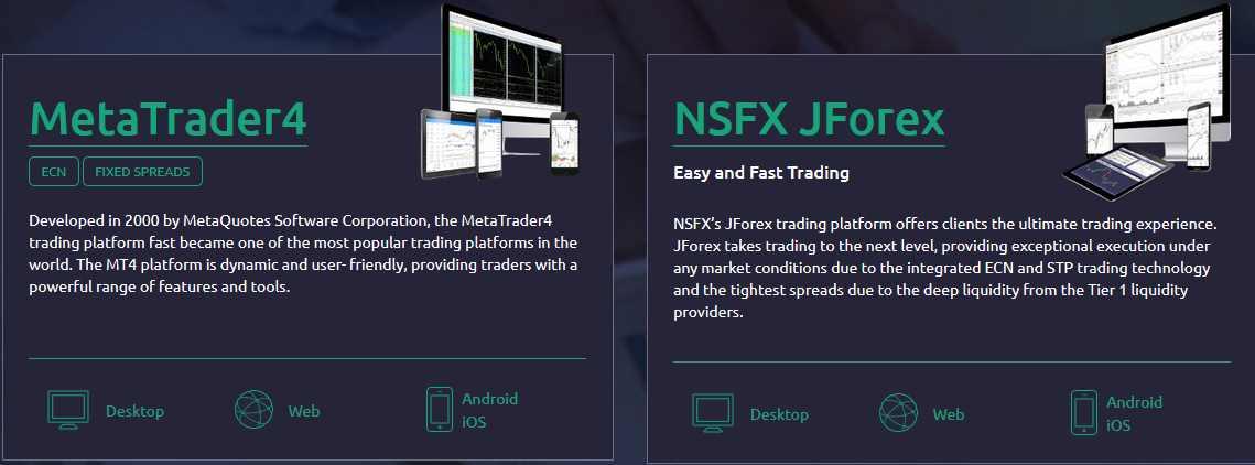 NSFX Erfahrungen - Plattform