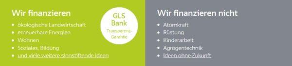 Die GLS Bank setzt auf Nachhaltigkeit