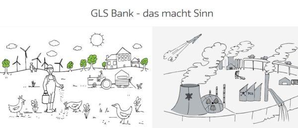 GLS Bank Webauftritt