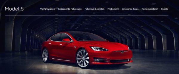 Bei Tesla stehen verschiedene Modelle zur Verfügung