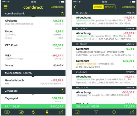 Trading Apps - comdirect