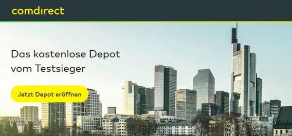 So präsentiert sich Comdirect auf seiner Webseite
