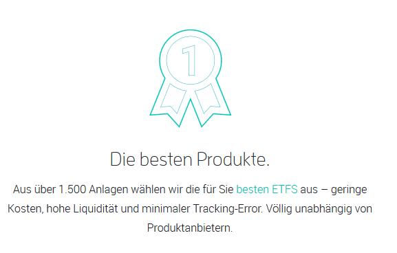 Aus über 1500 Anlagen werden die besten ETFs gewählt