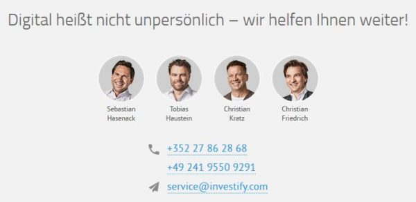 Support investify