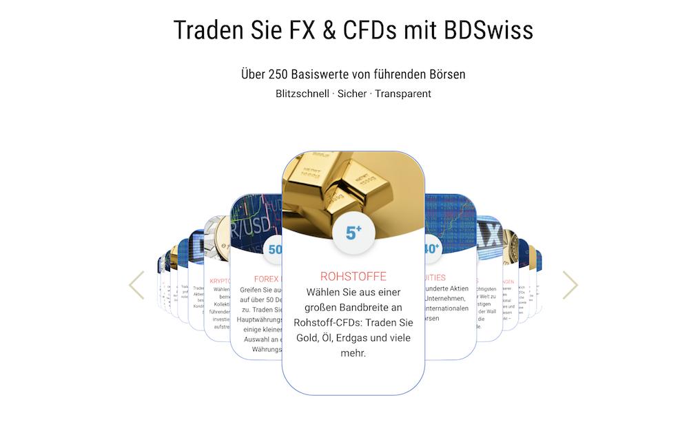BDSwiss Forex und CFD Handel