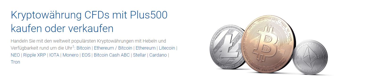 Handeln Sie Kryptowährungen auf CFDs mit Plus500
