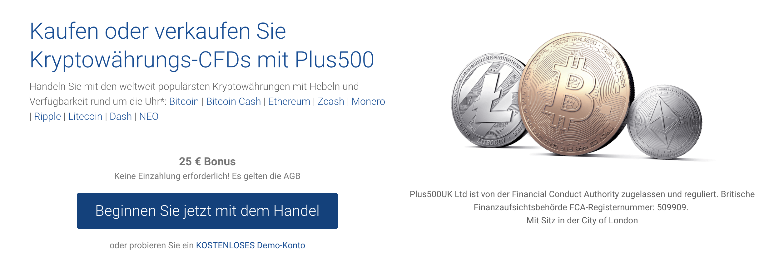Plus500 Krypto Handel
