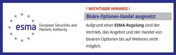 Hinweisbox Binaere Optionen