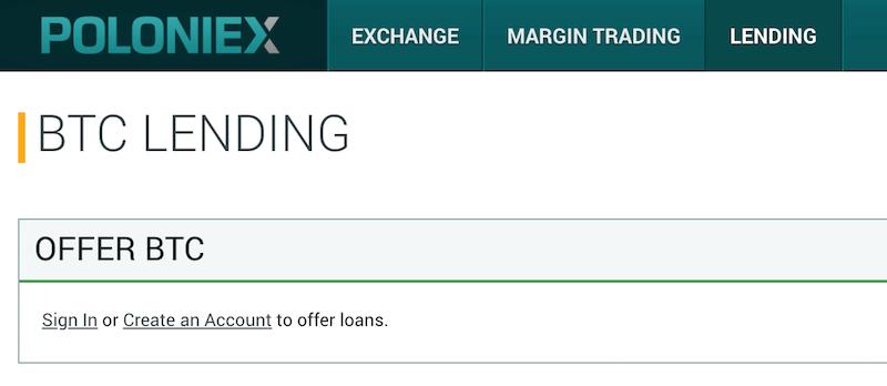Poloniex Crypto Lending