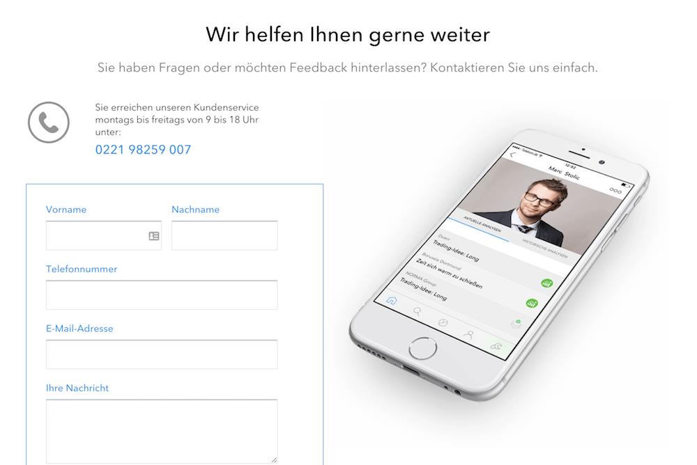 nextmarkets Kundenservice