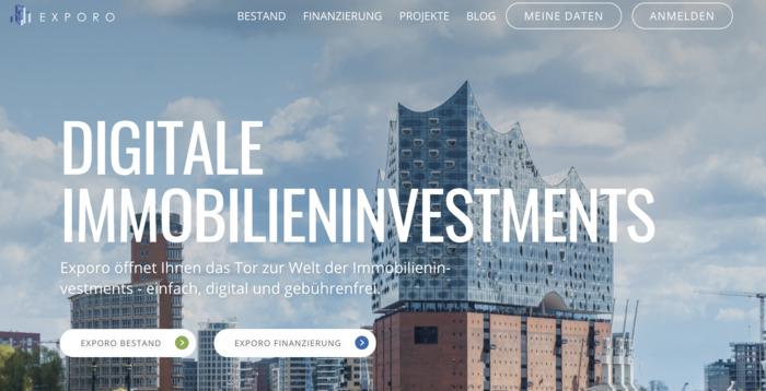 Exporo Homepage