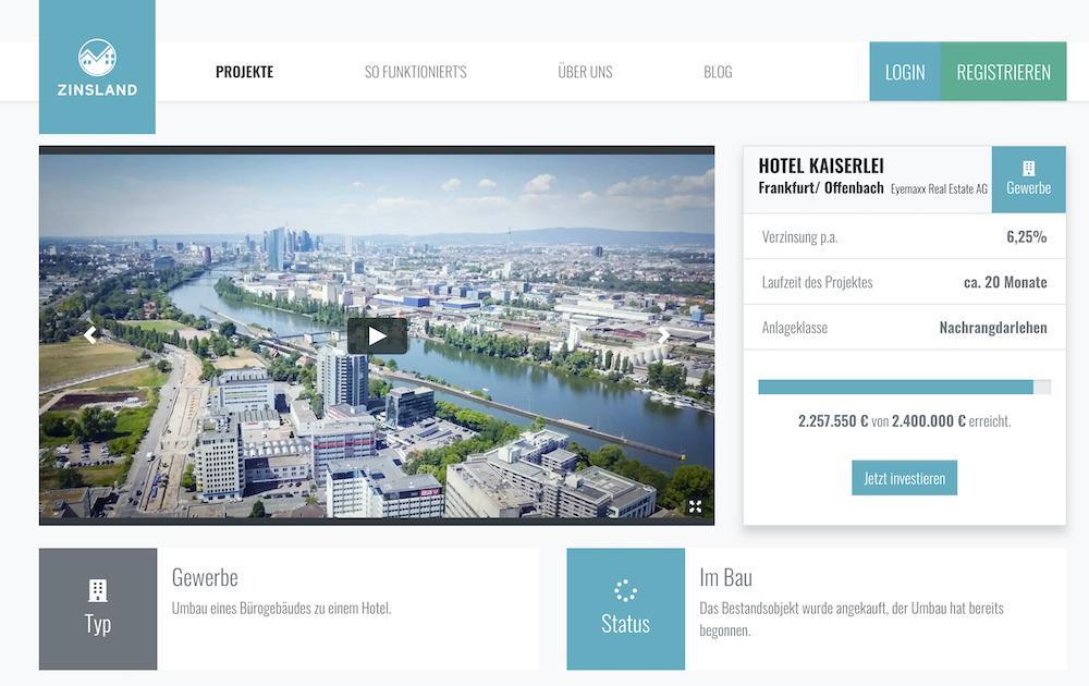Zinsland Hotel Kaiserlei Projektbeschreibung