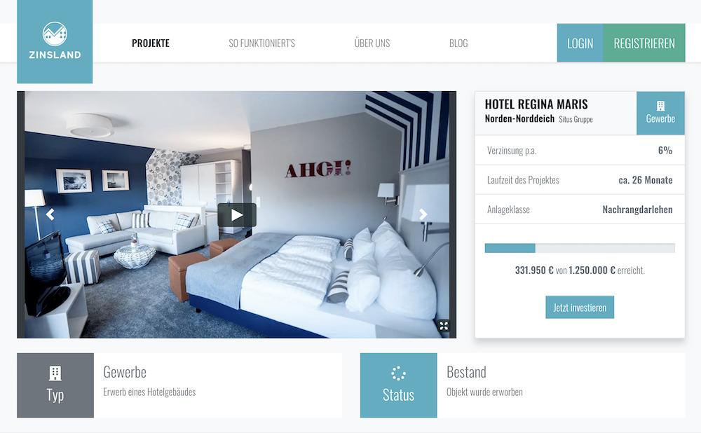 Zinsland Projektbeschreibung Hotel Regina Maris