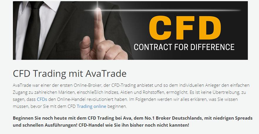 Bei AvaTrade finden Sie umfangreiche Informationen zum Handel mit CFDs