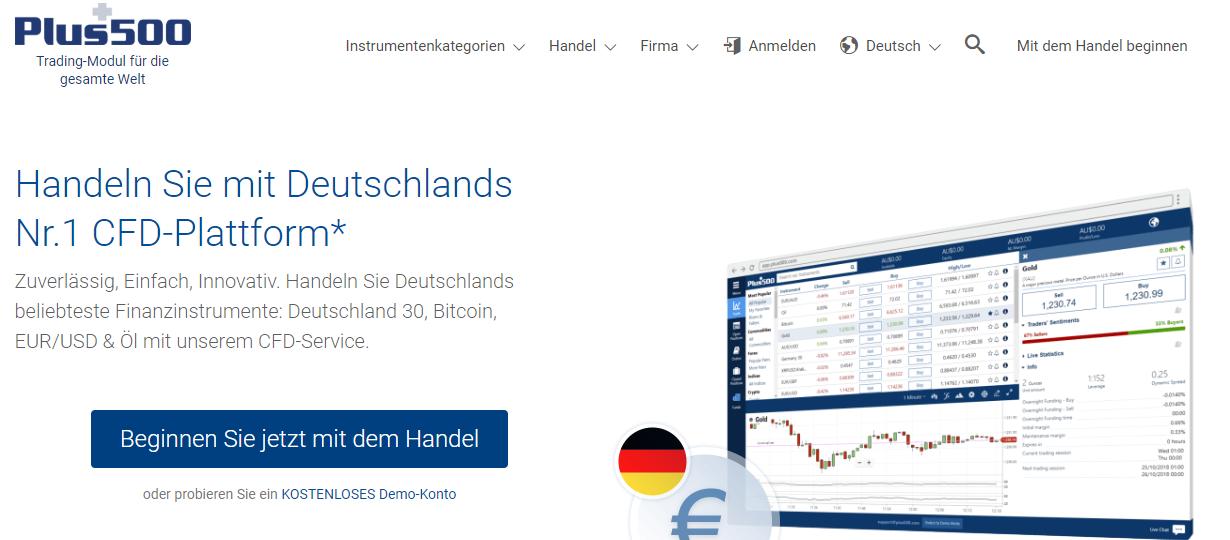 Plus500 ist Deutschlands Nr.1 CFD-Plattform