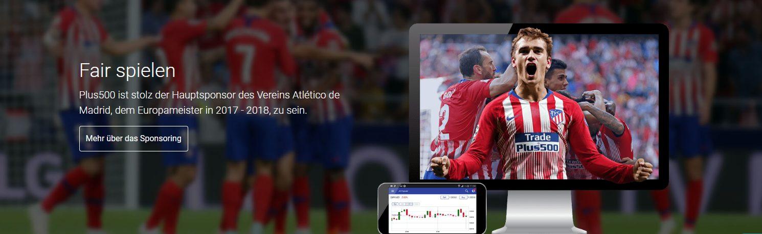 Plus500 ist Hauptsponsor des Atlético Madrid