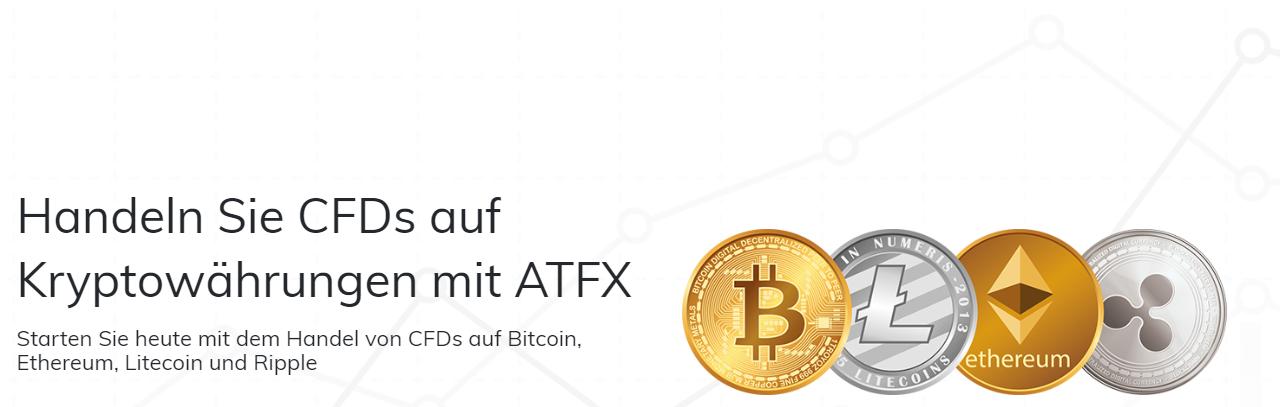 ATFX bietet CFDs auf Kryptowährungen an
