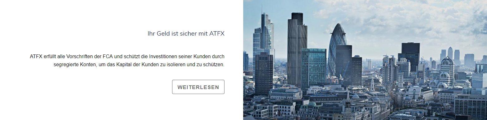 Die Sicherheit bei ATFX