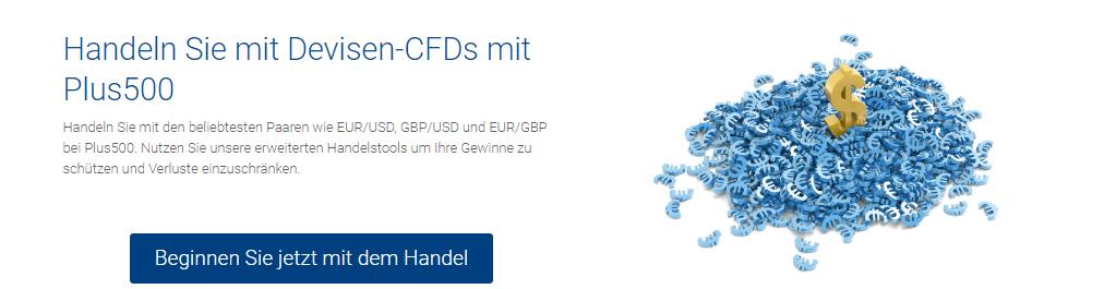 Handeln Sie Devisen-CFDs bei Plus500