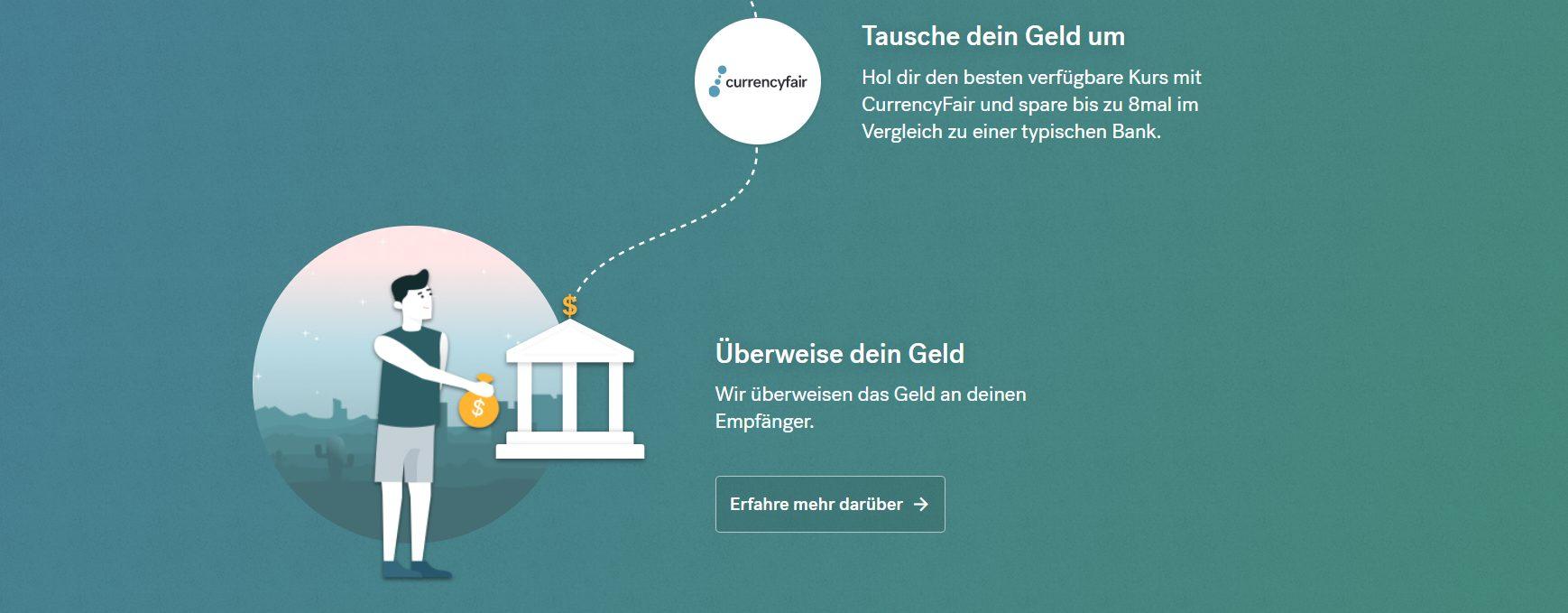 CurrencyFair bietet die besten Kurse zum Sparen an