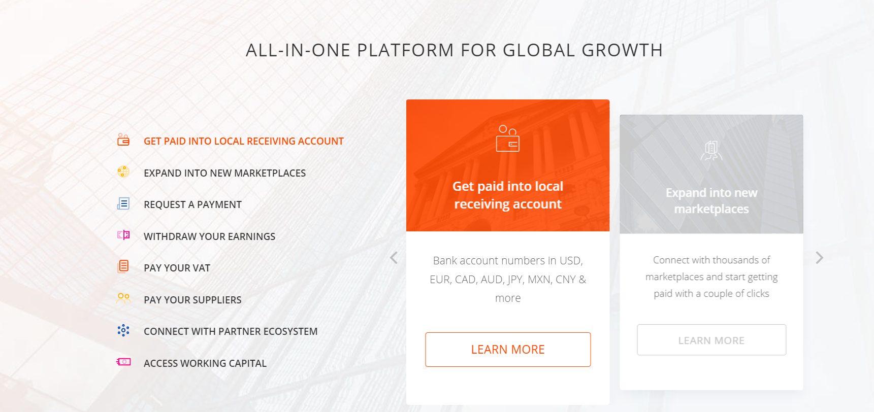 Das bietet die All-in-One Plattform von Payoneer