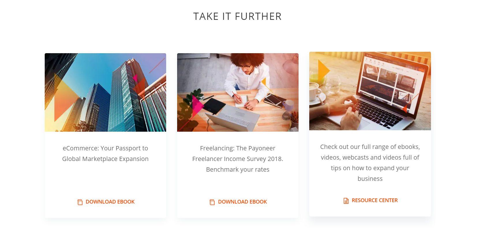 Nutzen Sie die informativen Ebooks von Payoneer
