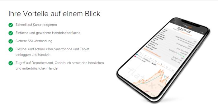 Flatex Mobile App